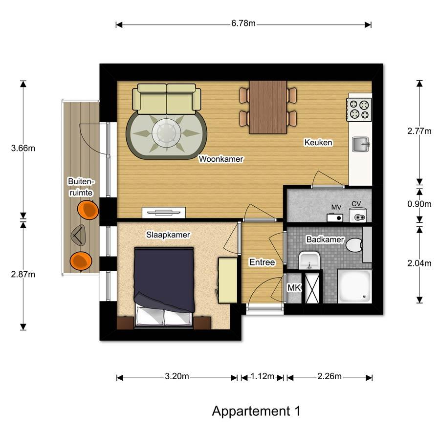 Appartement 1 -Berglaren te Gemert