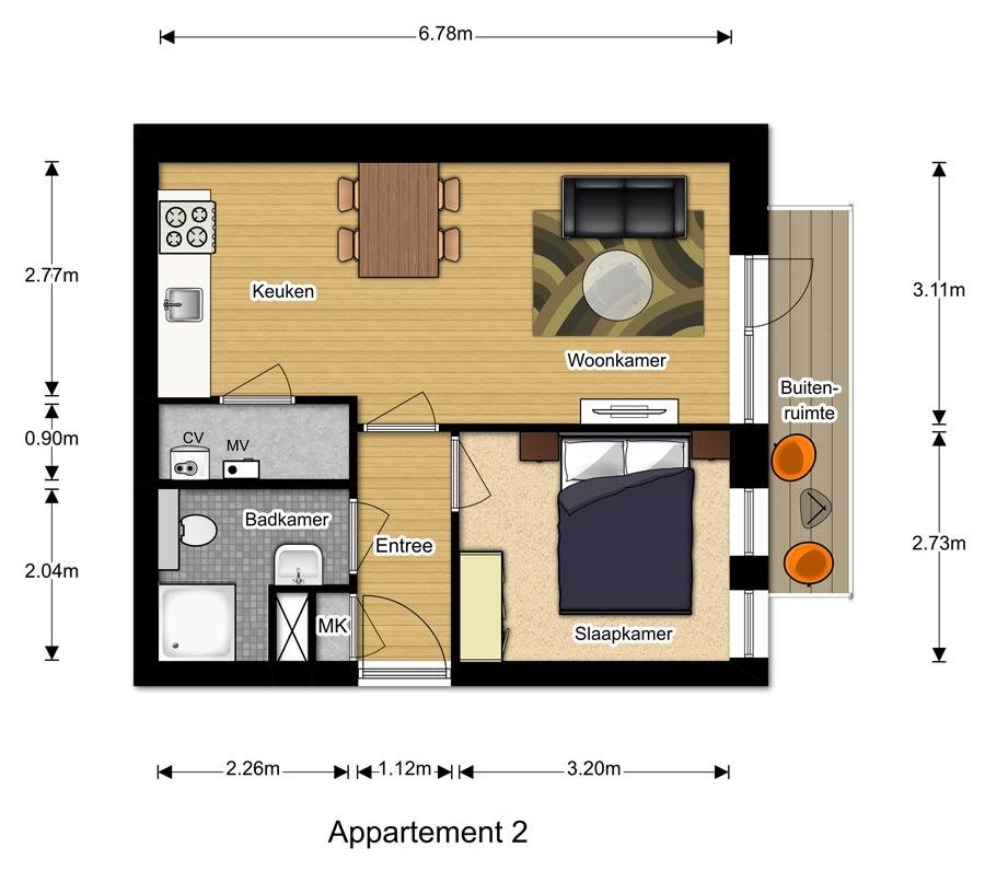 Appartement 2 - Berglaren te Gemert