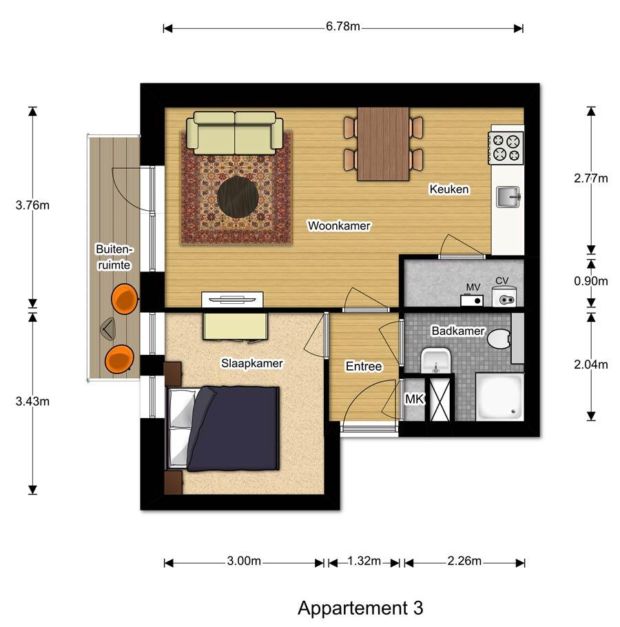 Appartement 3 - Berglaren te Gemert