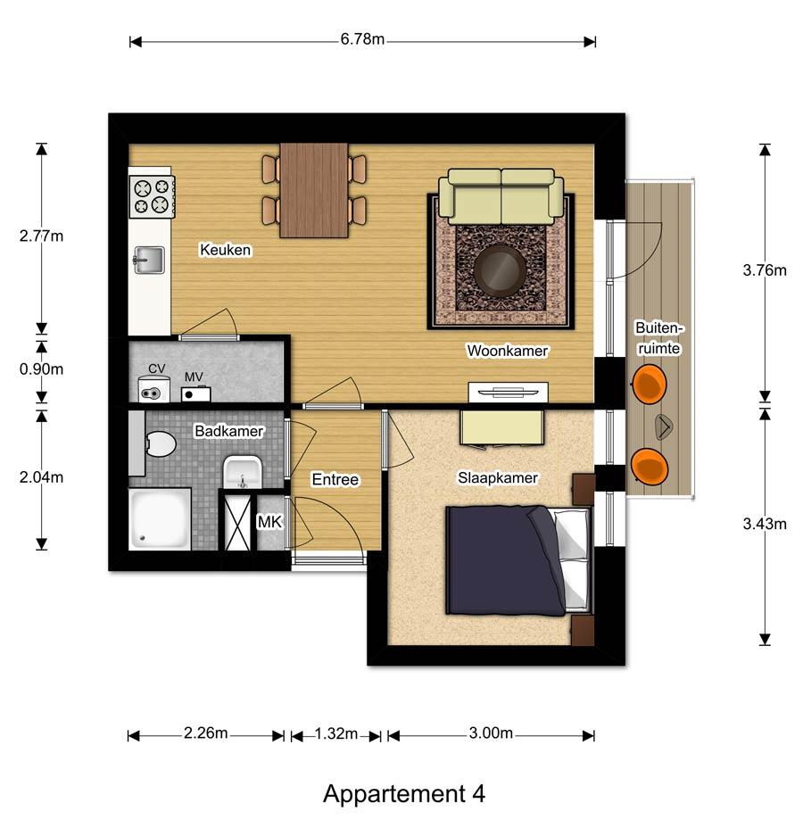 Appartement 4 - Berglaren te Gemert