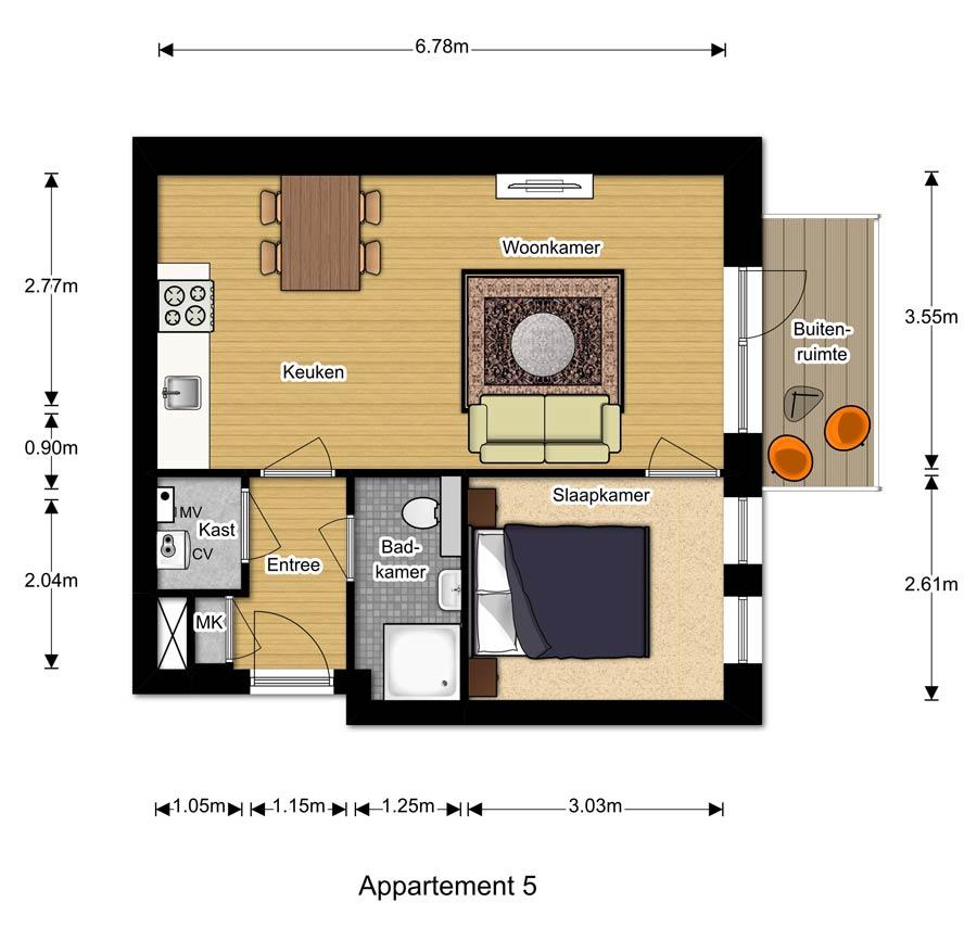 Appartement 5 - Berglaren te Gemert