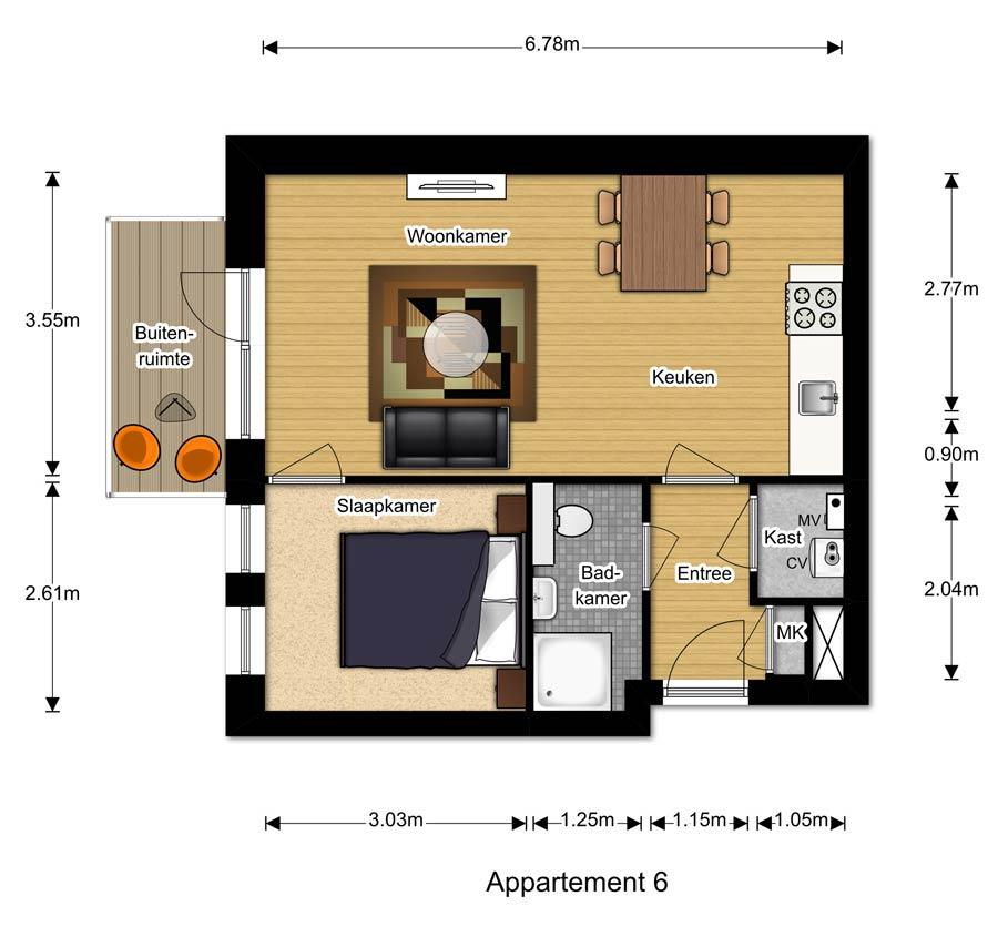 Appartement 6 - Berglaren te Gemert