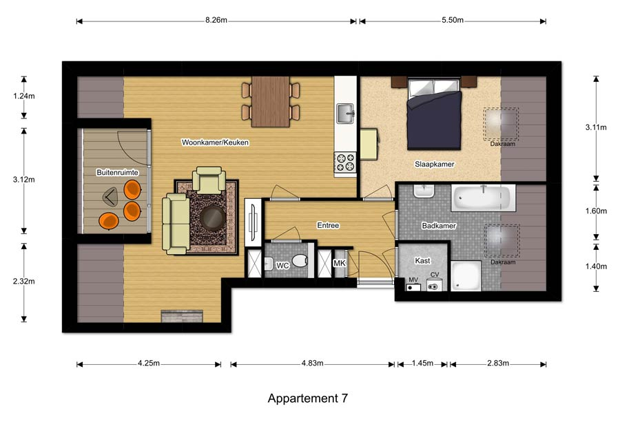 Appartement 7 - Berglaren te Gemert