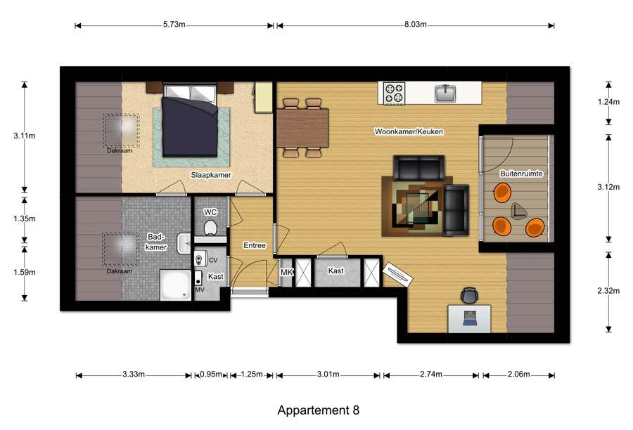 Appartement 8 - Berglaren te Gemert