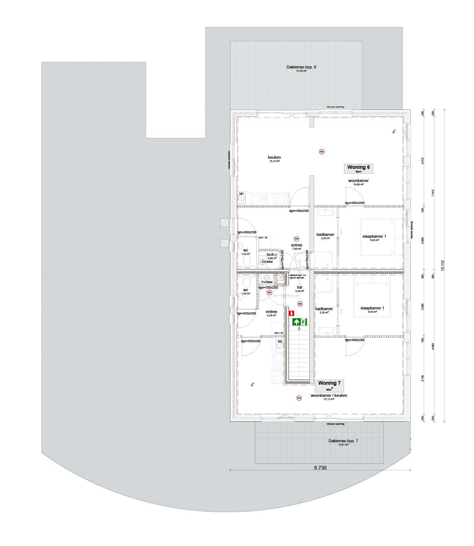 Blok7 Elsendorp 1ste verdieping