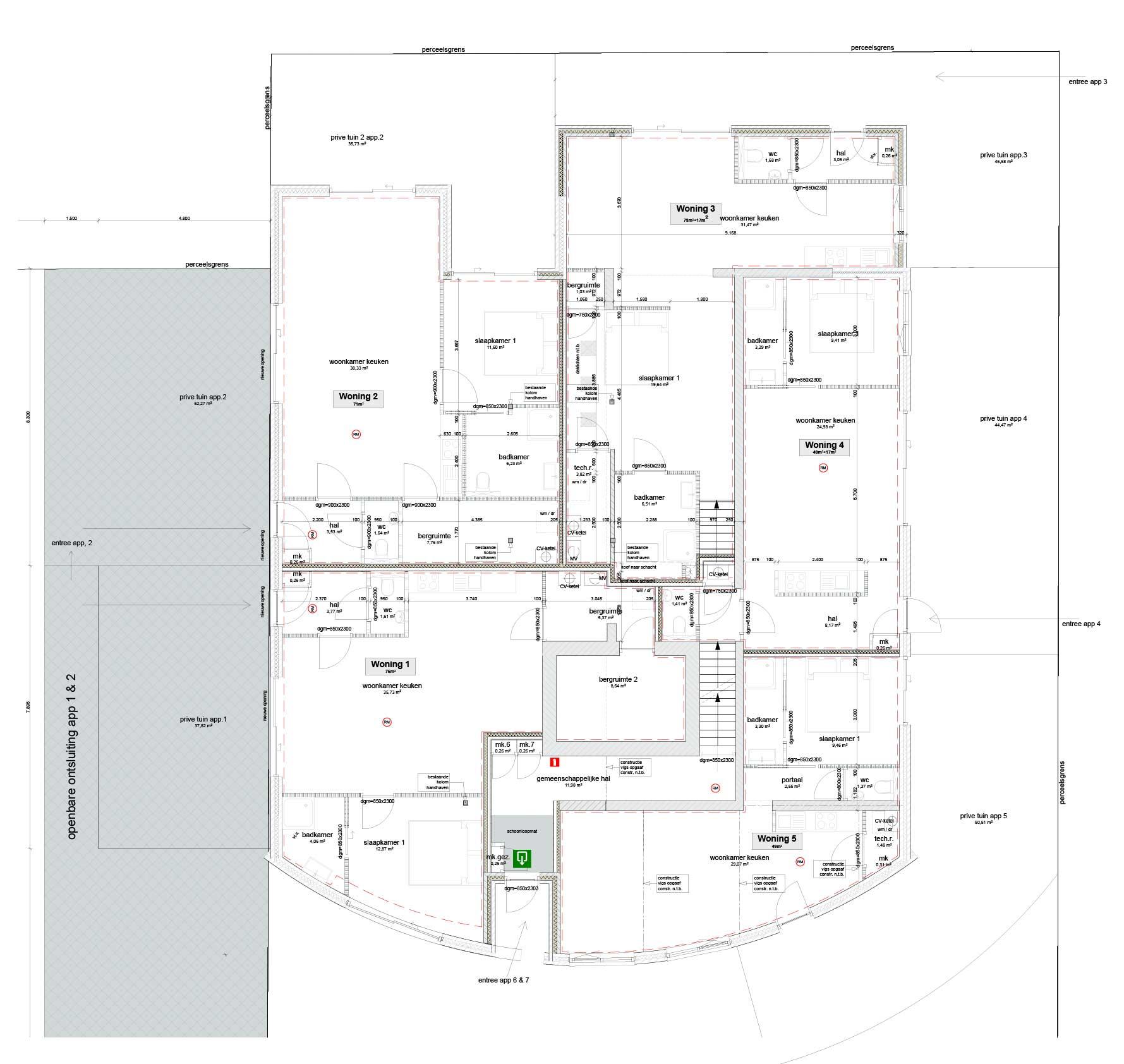Blok7 plattegrond beganegrond
